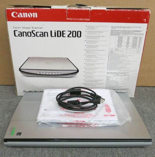 Canon CanoScan 200 USB Colour Image Flatbed Scanner Grey